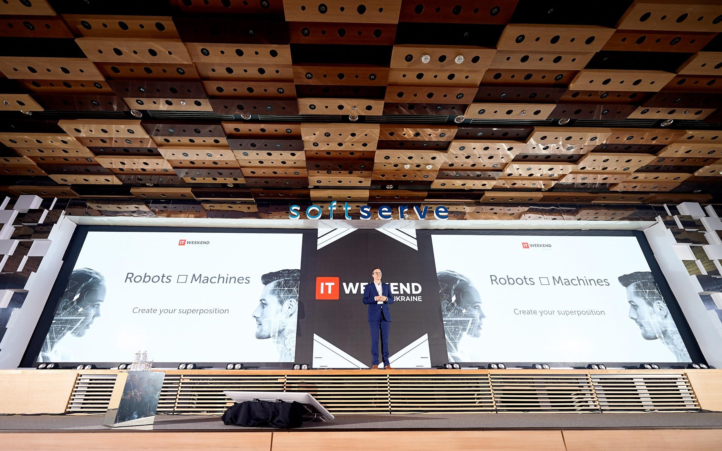 22 IT Weekend Ukraine 2017: the Future of Robots and Machines