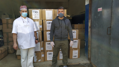 CHernivtsi2-414x233 SoftServe has accumulated and delivered to doctors from 7 Ukrainian cities over 4 tonnes of personal protective equipment