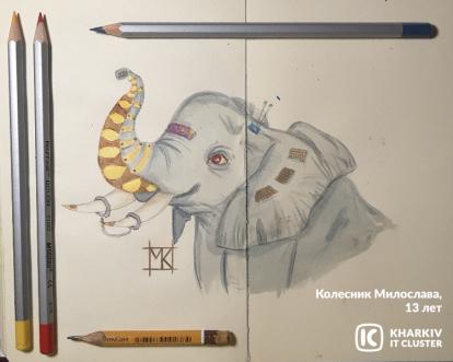 Kolesnyk-Myloslava-13-let-414x331 Айтишка и двоичный кот: как прошел конкурс «ХА-ботик»