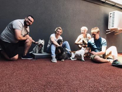 JC-dog-day-414x311 В рамках Міжнародної акції #TakeYourDogToWorkDay у компанії JustCoded провели Dog day 2021